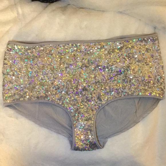 ae76f39d65 H M Sequined Hotpants High Waist Panties